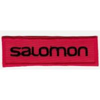 Parche bordado SALOMON ROJO 8cm x 2,5cm