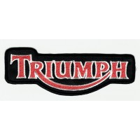 Embroidered patch ORANGE AND WHITE TRIUMPH 10,5cm x 3,5cm