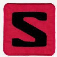 Embroidered patch LOGO RED SALOMON 10cm x 10cm