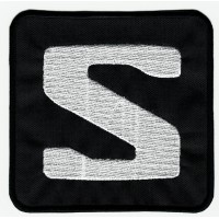 Embroidered patch LOGO BLACK SALOMON 10cm x 10cm