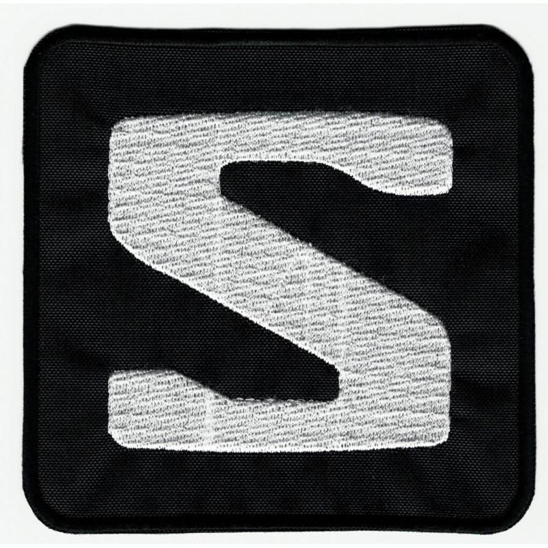 e607311965efa Embroidered patch LOGO BLACK SALOMON 10cm x 10cm - Los Parches