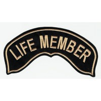Embroidered patch LIFE MEMBER 29cm x 15cm