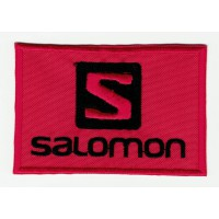 Embroidered patch RED SALOMON 8cm x 2,5cm
