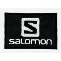 Parche bordado SALOMON NEGRO 8cm x 5,5cm
