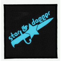 Embroidery patch and textile STAR AND DAGGER 9,5cm x 9,5cm