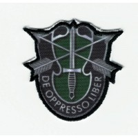 DE OPPRESSO LIBER Textile and embroidery patch 4cm x 4cm