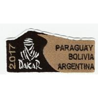 Parche bordado DAKAR 2017 8,5cm x 4cm