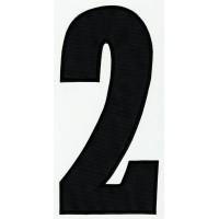 Parche bordado NUMERO 2 NEGRO 24cm X 11,5cm