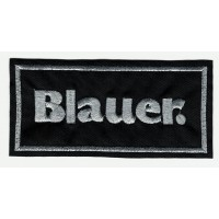 Patch embroidery BLAUER SILVER 5.5cm x 2.7cm