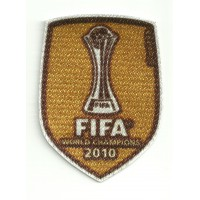 Textile patch FIFA WORLD CHAMPIONS 2010 DORADO 6,7cm X 9cm