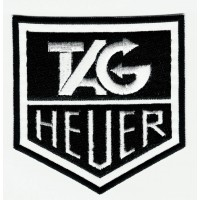 TAG HEUER B/N embroidered patch 8cm x 8cm