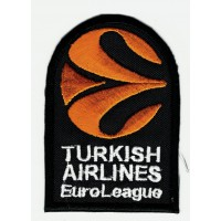 Parche bordado TURKISH AIRLINES EUROLEAGE 2016-2017 5cm x 7,5cm