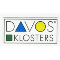textile patch DAVOS KLOSTERS 8CM X 4CM