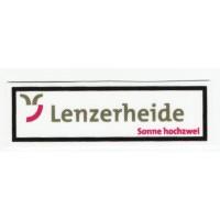 Parche textil LENZERHEIDE 8,5CM X 2,5CM