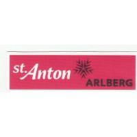 textile patch ST.ANTON ARLBERG 8CM X 2,5CM