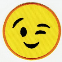 EMOTICON 1 embroidered patch 7,5cm