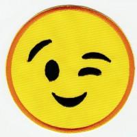 Parche bordado EMOTICONO 1 4,5cm