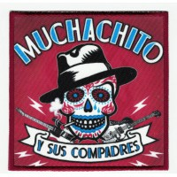 Embroidery patch and textile MUCHACHITO Y SUS COMPADRES 9,5cm x 9,5cm