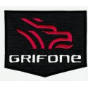 embroidered patch GRIFONE BLACK 10cm x 8cm