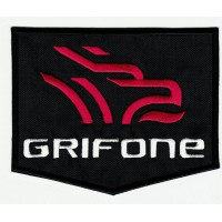 embroidered patch GRIFONE BLACK 5cm x 4cm