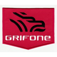 embroidered patch GRIFONE RED 5cm x 4cm