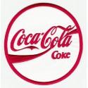 COCA COLA WHITE embroidered patch 7cm