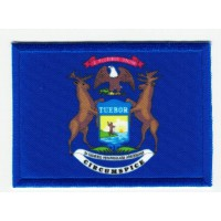 Patch embroidery and textile FLAG MICHIGAN 4CM x 3CM
