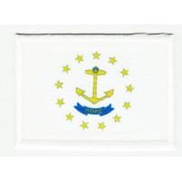 Parche bordado y textil BANDERA RHODE ISLAND 4CM x 3CM