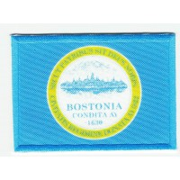 Patch embroidery and textile FLAG BOSTON 4CM x 3CM