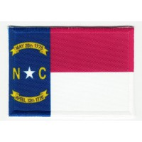 Patch embroidery and textile FLAG NORTH CAROLINA 7CM x 5CM