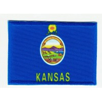 Patch embroidery and textile FLAG KANSAS 4CM x 3CM