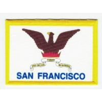 Parche bordado y textil BANDERA SAN FRANCISCO 4CM x 3CM