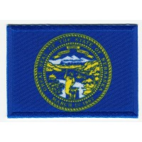 Patch embroidery and textile FLAG NEBRASKA 4CM x 3CM