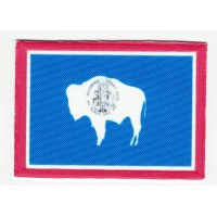 Patch embroidery and textile FLAG WYOMING 7CM x 5CM