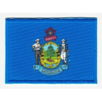 Patch embroidery and textile FLAG MAINE 4CM x 3CM