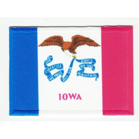 Patch embroidery and textile FLAG IOWA 7CM x 5CM