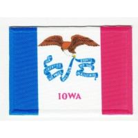 Patch embroidery and textile FLAG IOWA 4CM x 3CM