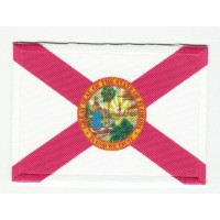 Parche bordado y textil BANDERA FLORIDA 7CM x 5CM