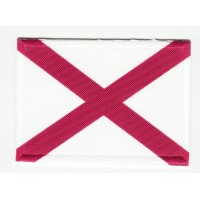 Patch embroidery and textile FLAG ALABAMA 4CM x 3CM