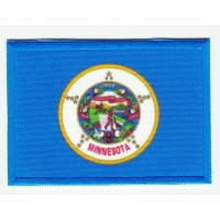 Patch embroidery and textile FLAG MINNESOTA 4CM x 3CM
