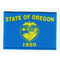 Patch embroidery and textile FLAG OREGON 4CM x 3CM