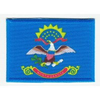 Patch embroidery and textile FLAG NORTH DAKOTA 4CM x 3CM