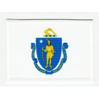Patch embroidery and textile FLAG MASSACHUSETTS 4CM x 3CM