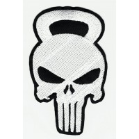 Parche bordado CALAVERA EL CASTIGADOR CROSS ( The punisher ) 6cm x 10cm