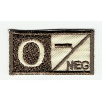 Patch embroidery BLOOD GROUP O NEGATIVE 4cm x 2cm