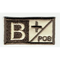 Patch embroidery BLOOD GROUP B POSITIVE 4cm x 2cm