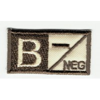 Patch embroidery BLOOD GROUP B NEGATIVE 4cm x 2cm