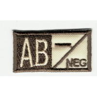 Patch embroidery BLOOD GROUP AB NEGATIVE 4cm x 2cm