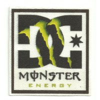 Textile patch DC SHOES MONSTER ENERGY 5cm x 5,5cm