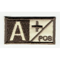 Patch embroidery BLOOD GROUP A POSITIVE 4cm x 2cm